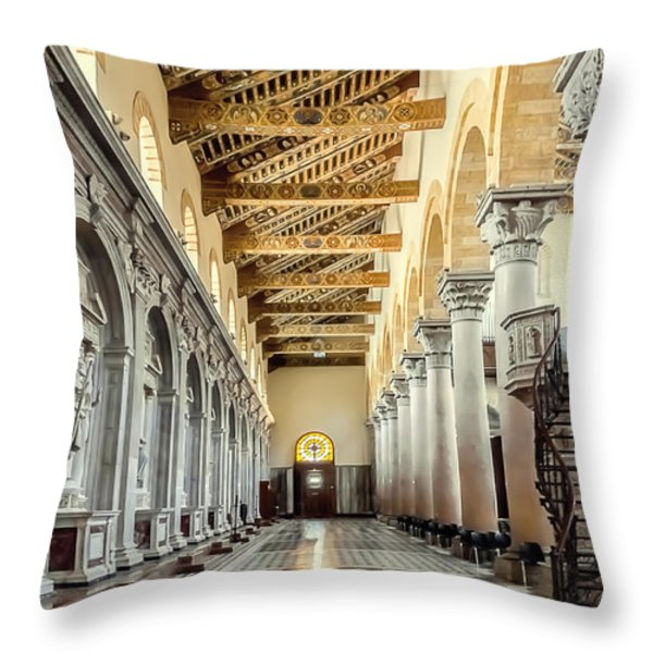 Pulpit Throw Pillow by Maria Coulson