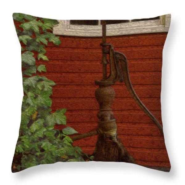 Pump Throw Pillow by Jack Zulli