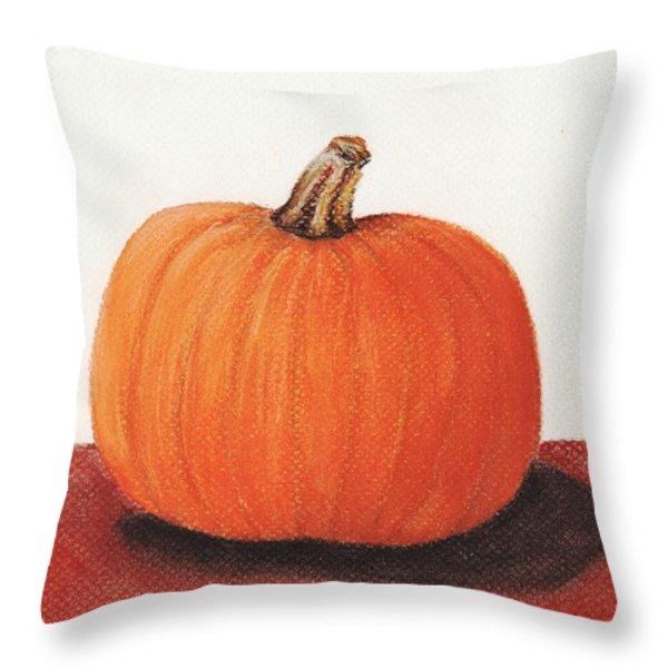 Pumpkin Throw Pillow by Anastasiya Malakhova