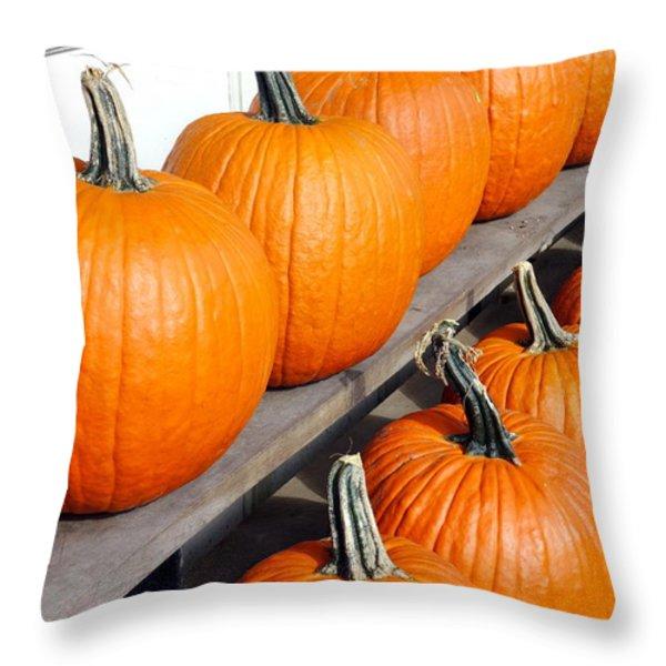 Pumpkins Throw Pillow by Valentino Visentini