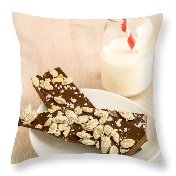 Pumpkinseed And Burnt Butter Toffee Throw Pillow by Edward Fielding