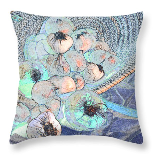 Pungent Overflow Throw Pillow by Jean Noren