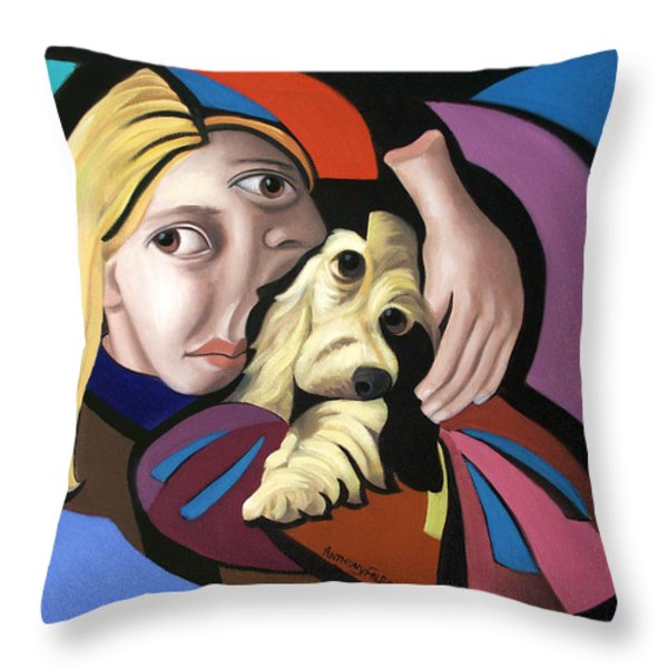 Puppy Love Throw Pillow by Anthony Falbo