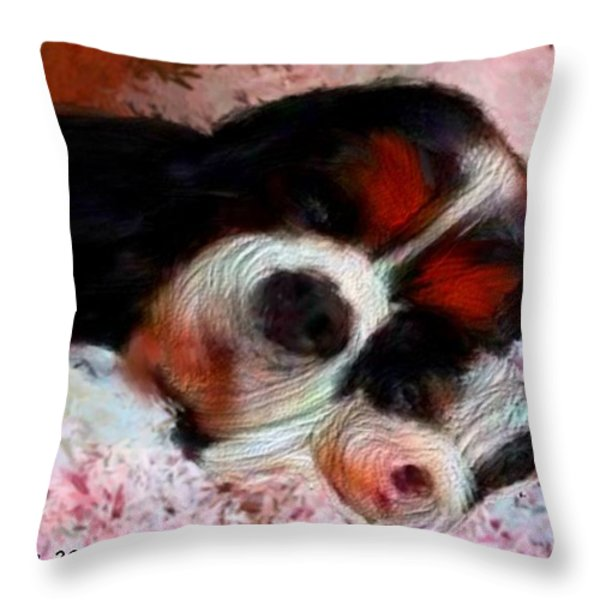Puppy Love Throw Pillow by Bruce Nutting
