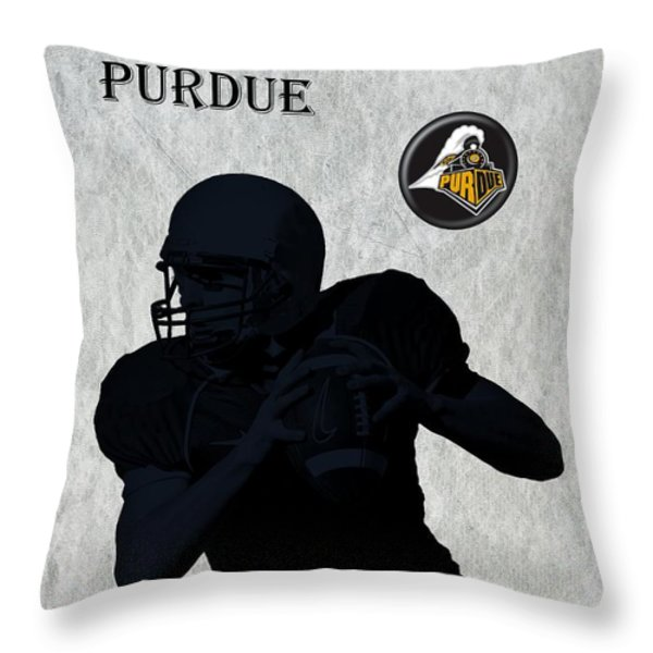 Purdue Football Throw Pillow by David Dehner