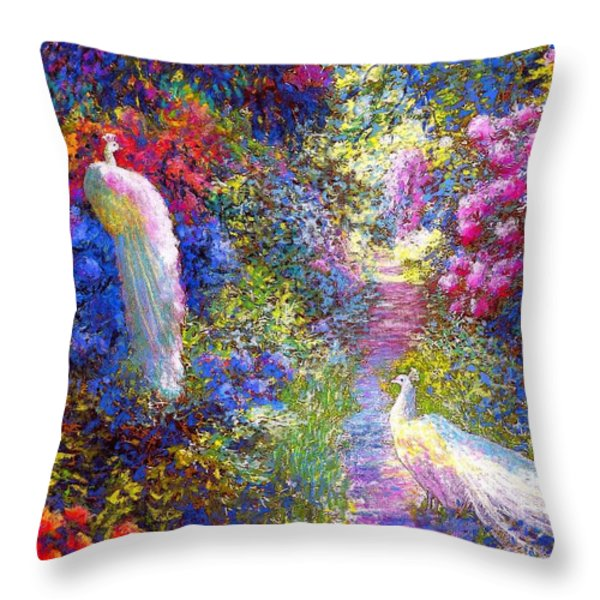 Pure Bliss Throw Pillow by Jane Small