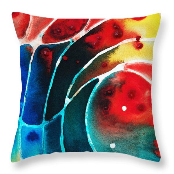 Pure Joy 2 - Abstract Art By Sharon Cummings Throw Pillow by Sharon Cummings