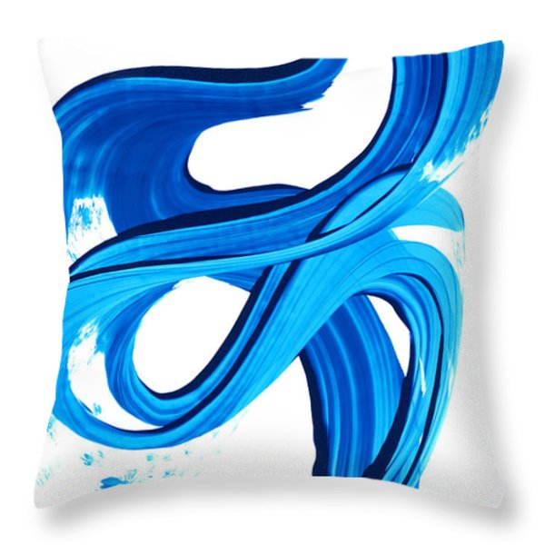 Pure Water 270 Throw Pillow by Sharon Cummings