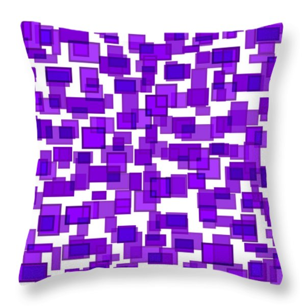 Purple Abstract Throw Pillow by Frank Tschakert