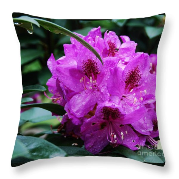 Purple Azelia Throw Pillow by Marcus Dagan