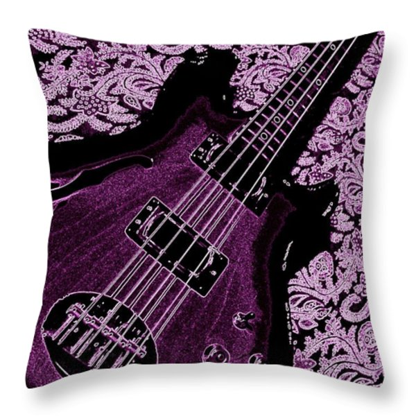 Purple Bass Throw Pillow by Chris Berry