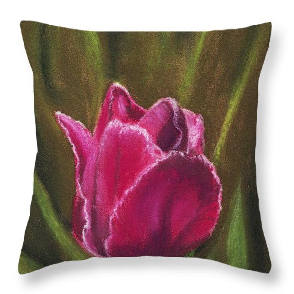 Purple Beauty Throw Pillow by Anastasiya Malakhova
