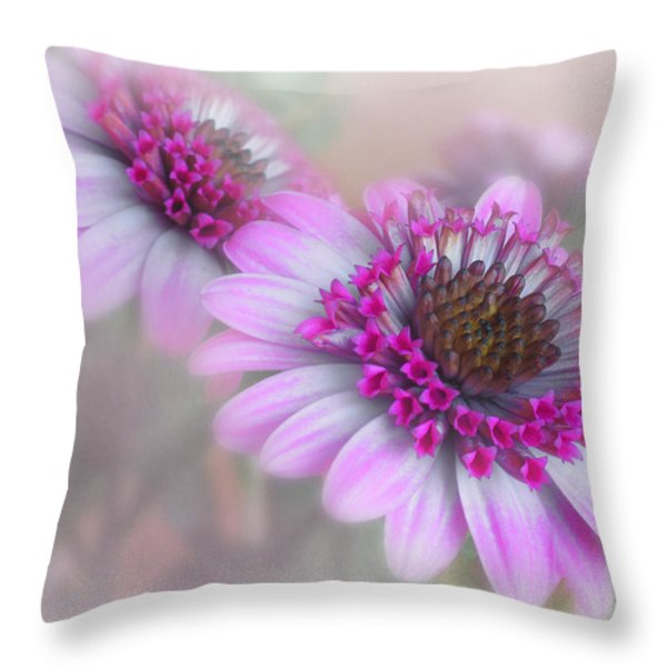 Purple Blooms Throw Pillow by David and Carol Kelly