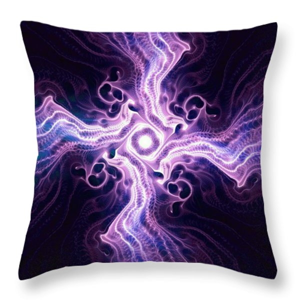Purple Cross Throw Pillow by Anastasiya Malakhova