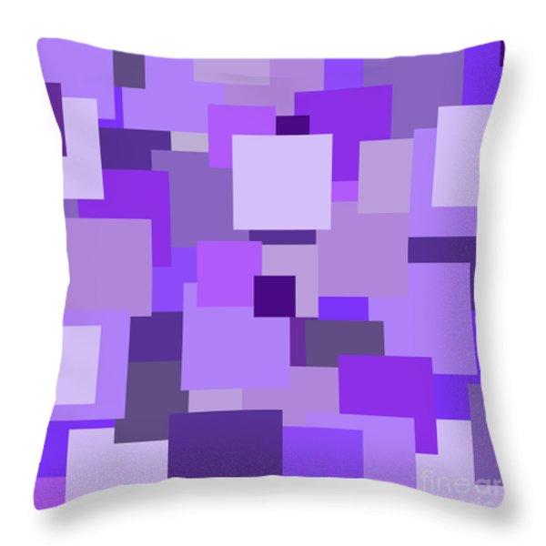Purple Extravaganza Throw Pillow by Mariola Bitner