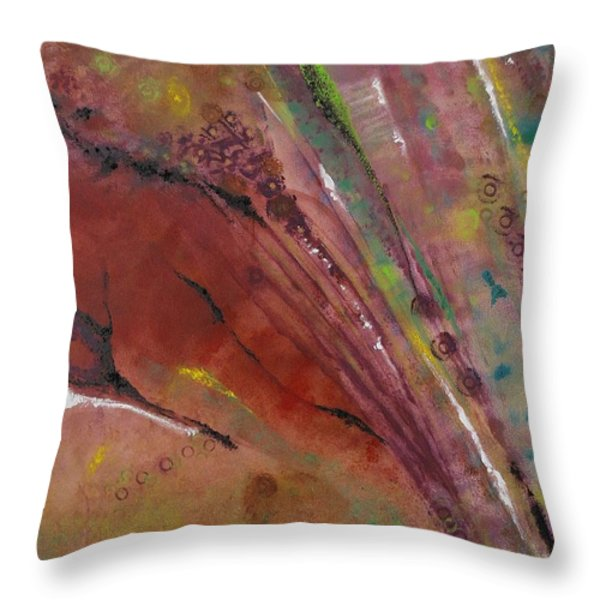 Purple Haze Throw Pillow by Denise Peat