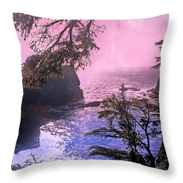 Purple Haze Throw Pillow by Marty Koch