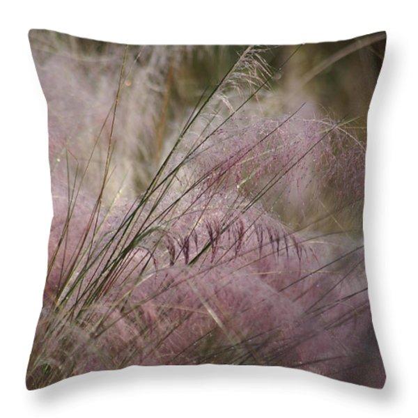 Purple In Bloom Throw Pillow by Patricia Twardzik