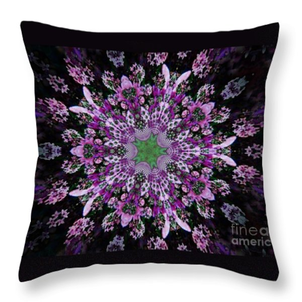 Purple Lilac Kalidescope Throw Pillow by Michelle Frizzell-Thompson