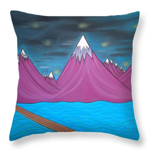 Purple Mountains Throw Pillow by Robert Nickologianis