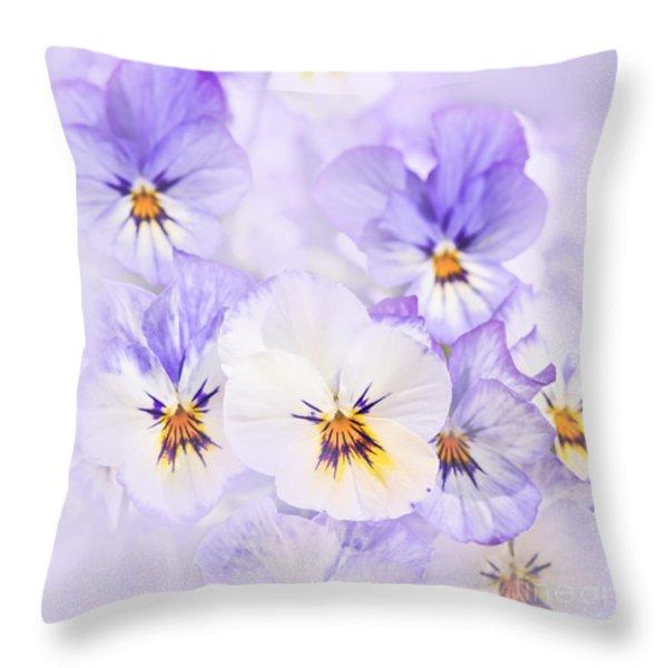 Purple Pansies Throw Pillow by Elena Elisseeva