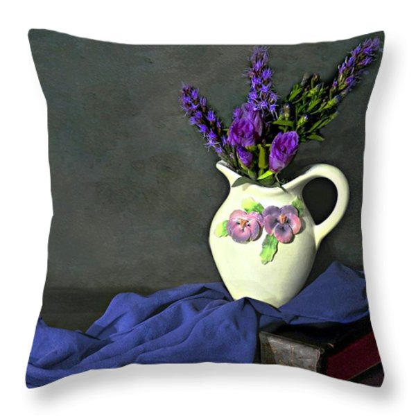 Purple Pardon Throw Pillow by Diana Angstadt