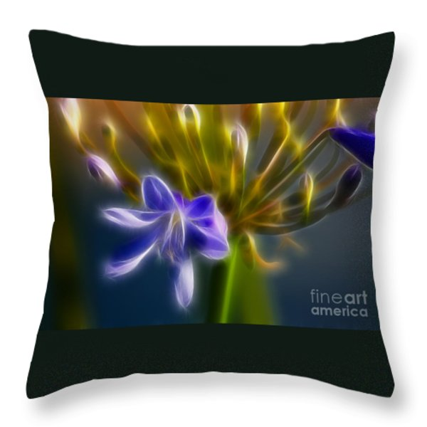 Purple Passion 6318-fractal Throw Pillow by Gary Gingrich Galleries