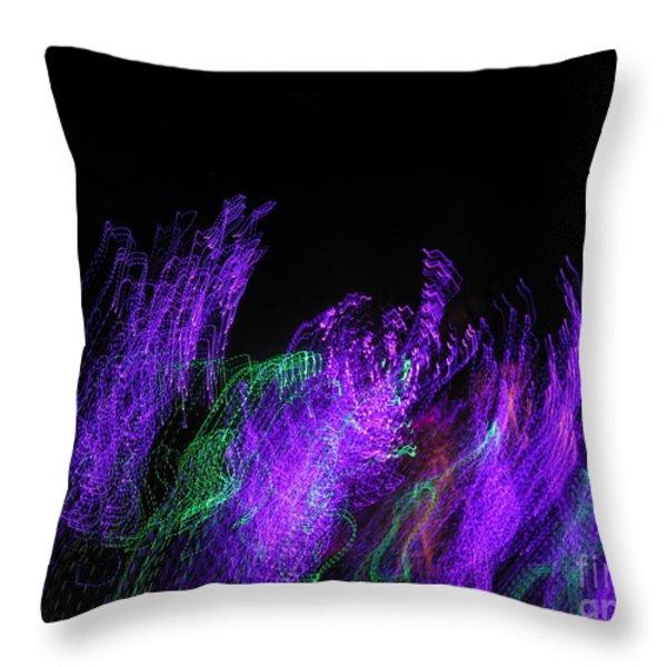 Purple Passion. Dancing Lights Series Throw Pillow by Ausra Huntington nee Paulauskaite