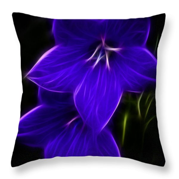 Purple Passion Throw Pillow by Joann Copeland-Paul