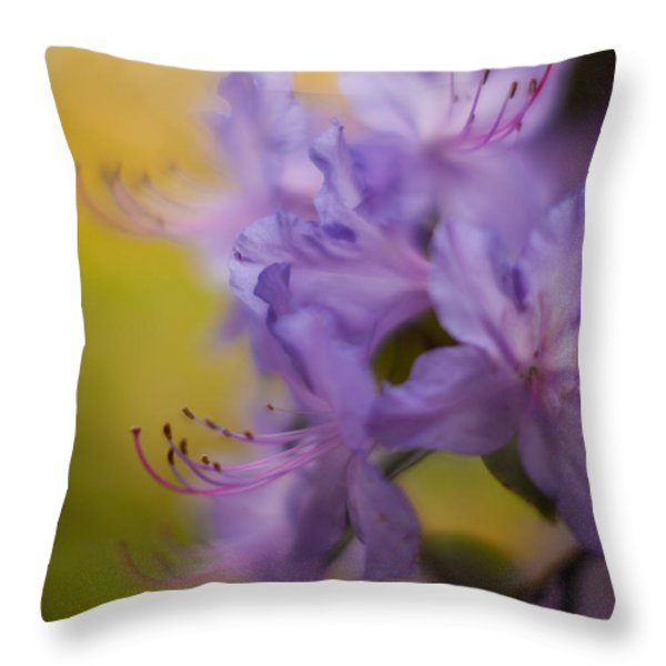 Purple Whispers Throw Pillow by Mike Reid