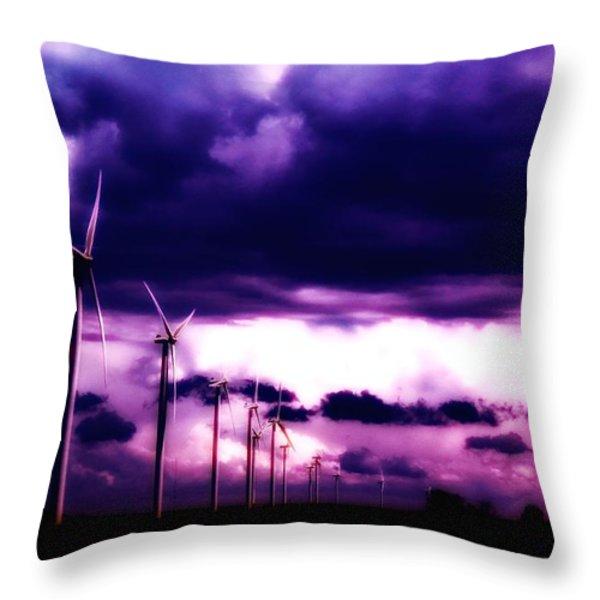 Purple Winds Throw Pillow by Todd and candice Dailey