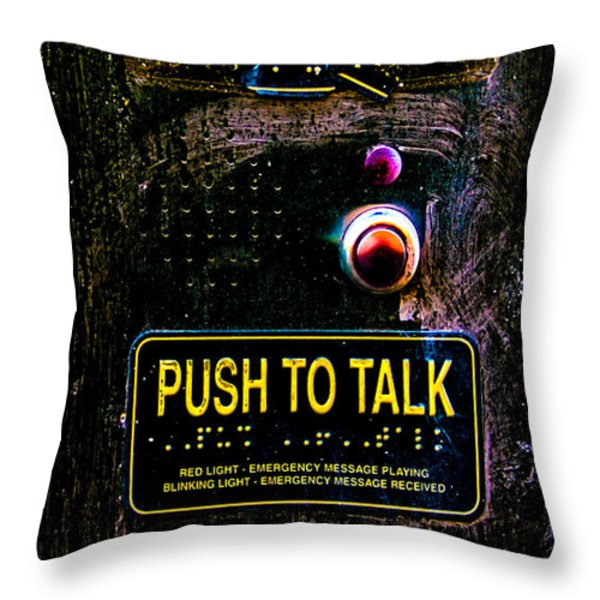 Push To Talk Throw Pillow by Bob Orsillo