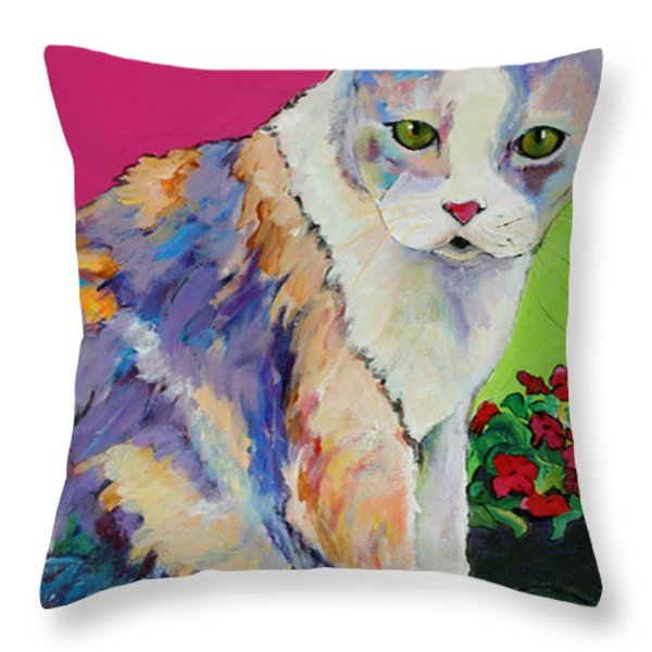 Puurl Throw Pillow by Pat Saunders-White
