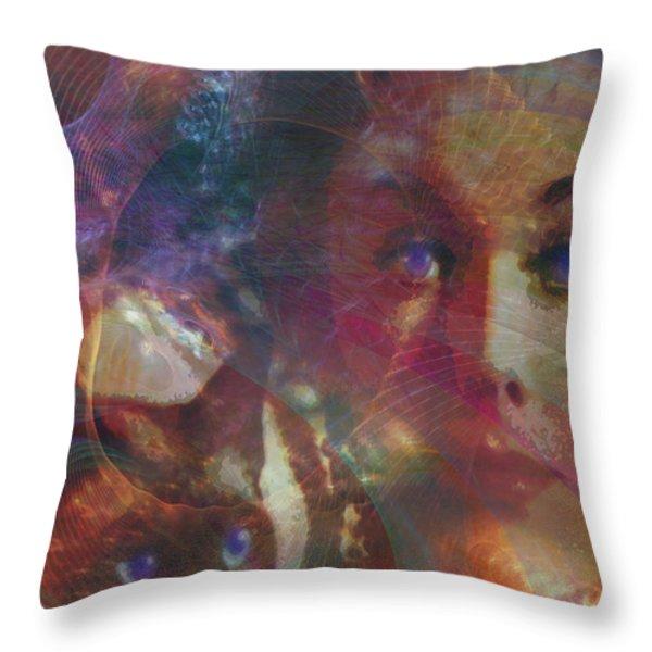 Pyewacket And Gillian Throw Pillow by John Robert Beck
