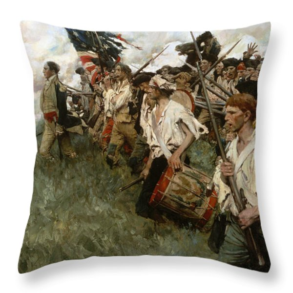 Pyle: Nation Makers, 1906 Throw Pillow by Granger