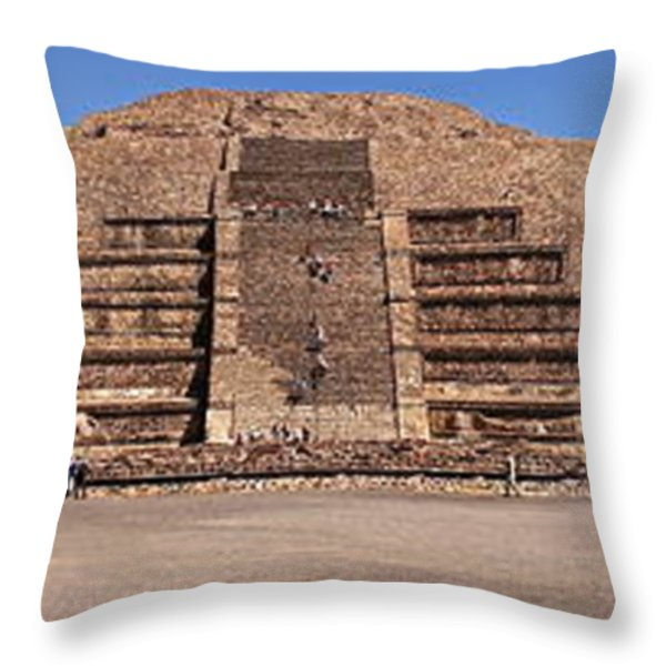 Pyramid Of The Moon Panorama Throw Pillow by Sean Griffin