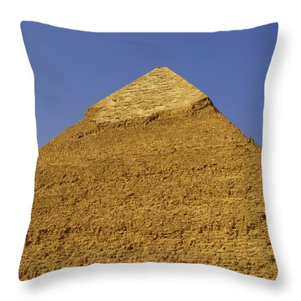 pyramids of giza 06 Throw Pillow by Antony McAulay