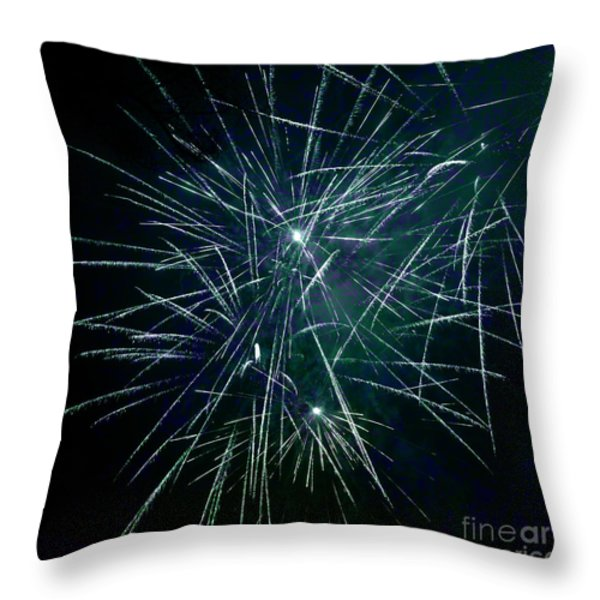 Pyrotechnic Delight Throw Pillow by John Stephens