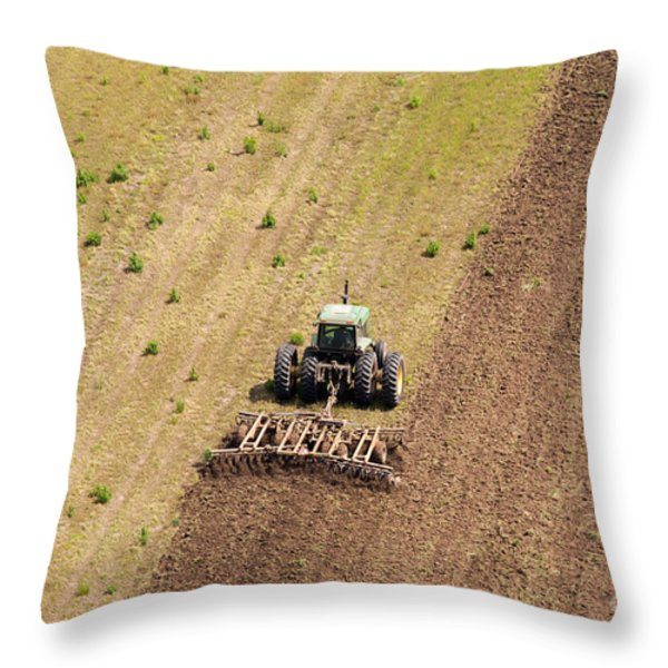 Quad Tractor Throw Pillow by John Ferrante