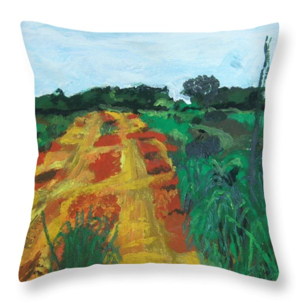 Quagmire To My Village Throw Pillow by Mudiama Kammoh