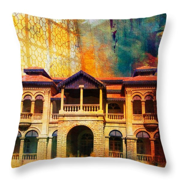 Quaid -e Azam House Flag Staff House Throw Pillow by Catf