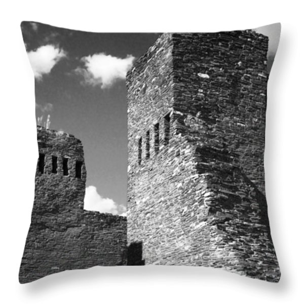 Quarai at Salinas Pueblos Mission NM Throw Pillow by Christine Till