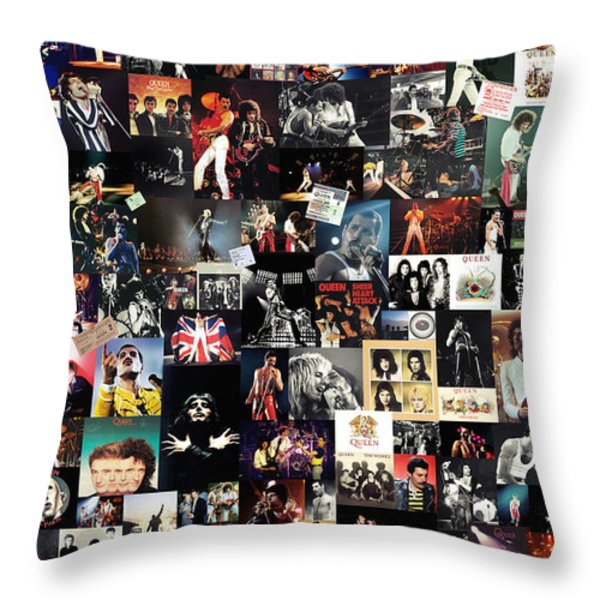 Queen Collage Throw Pillow by Taylan Soyturk