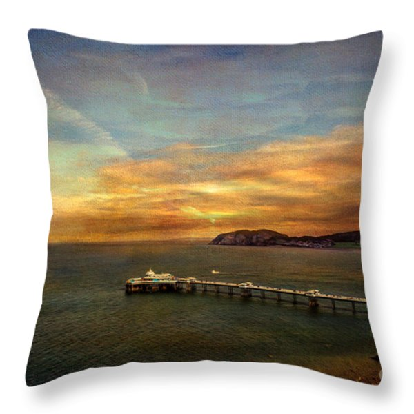 Queen of the Welsh Resorts Throw Pillow by Adrian Evans