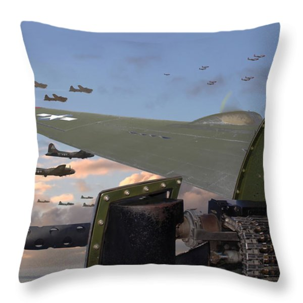 Quiet before the Storm Throw Pillow by Pat Speirs