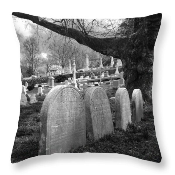 Quiet Cemetery Throw Pillow by Jennifer Lyon