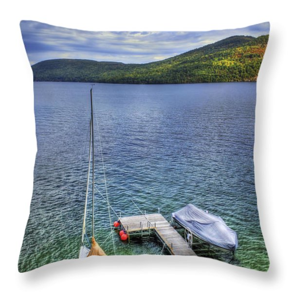 Quiet Jetty Throw Pillow by Evelina Kremsdorf