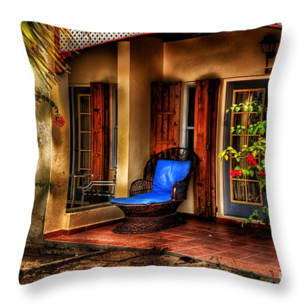 Quiet Little Corner Throw Pillow by Arnie Goldstein
