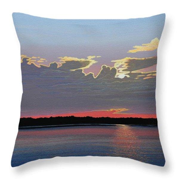 Quiet Reflection II Throw Pillow by Kenneth M  Kirsch