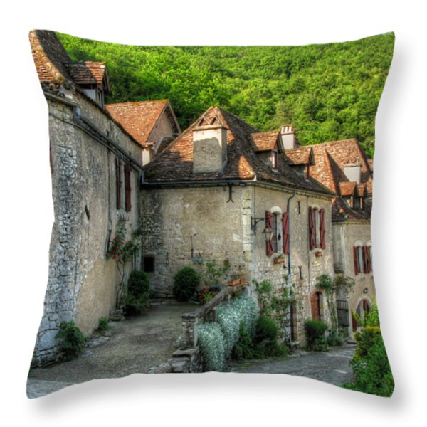 Quiet Village Life Throw Pillow by Douglas J Fisher